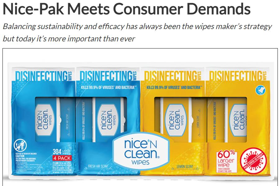 Nice-Pak Meets Consumer Demands