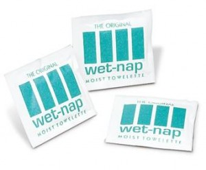 3 Individual Wet Nap Packettes
