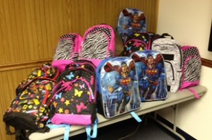 Indiana backpack donations from Carla Wilson