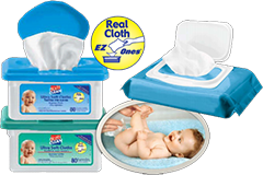 """First to the market in the UK with """"real cloth"""" disposable wipes"""